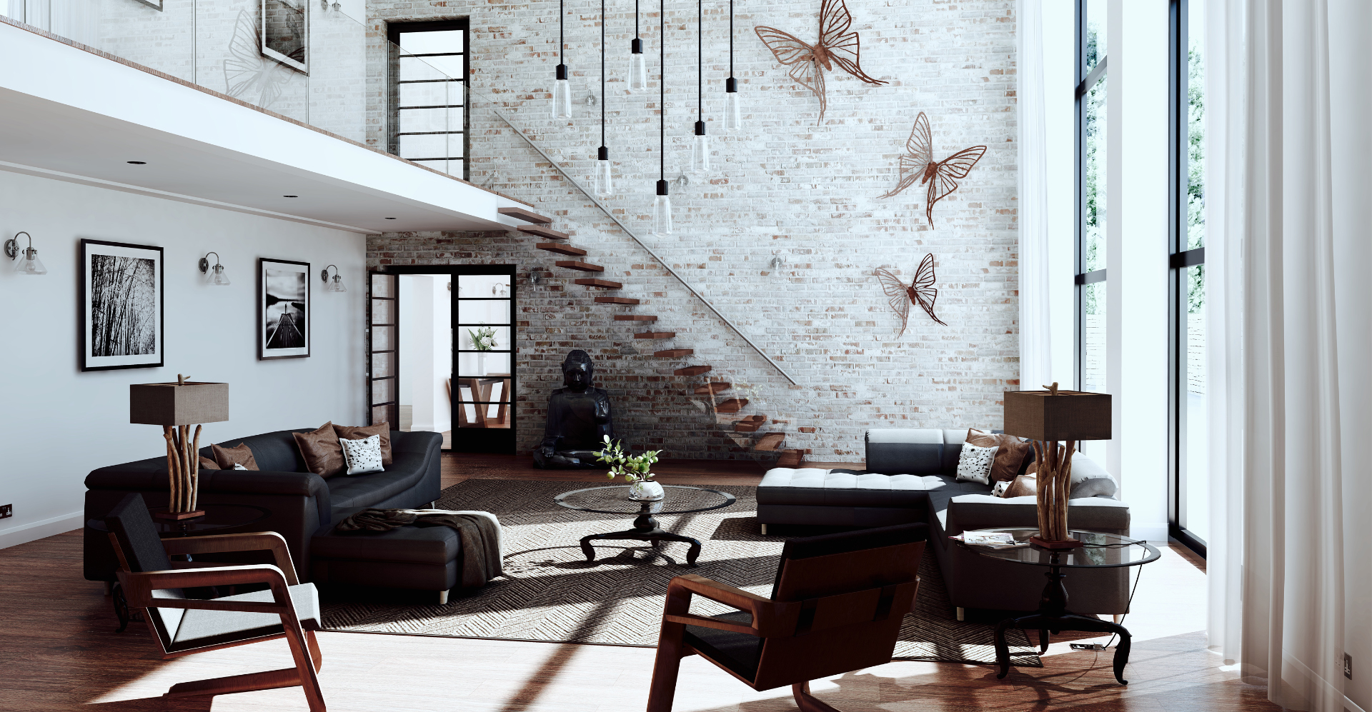 SU Podium living room render