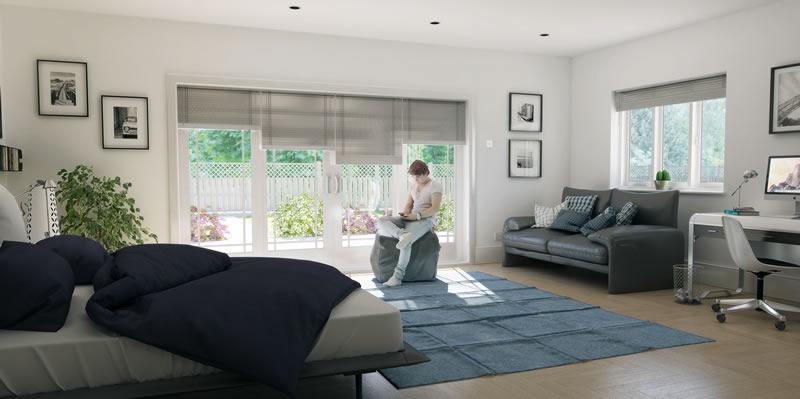 SU Podium bedroom panoramic render
